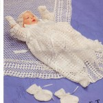 Crochet Christening Shawl, Gown and Accessories