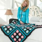 Floral Throw Free Crochet Blanket Pattern