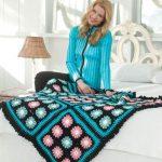 Floral Throw Free Crochet Blanket Pattern