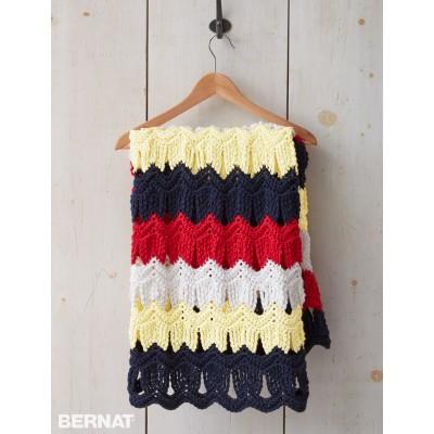 Free Seashells By The Seashore Crochet Blanket Pattern