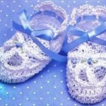 Frilly Baby Booties