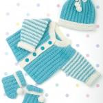 Funky Newborn Layette Free Knitting Pattern