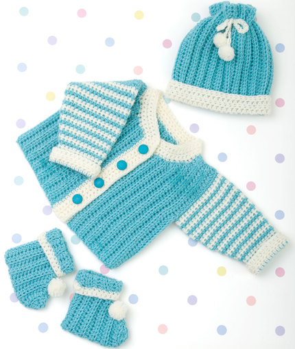 Funky Newborn Layette Free Knitting Pattern