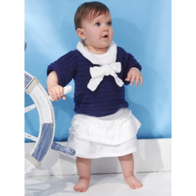 Nautical Toddler's Top Free Crochet Pattern