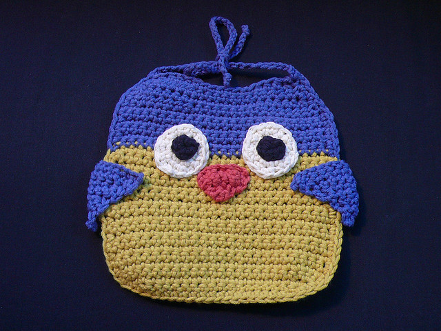 Owl Bib Free Crochet for Baby