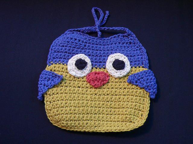Owl Bib by Lion Brand Yarn