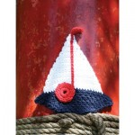 Sailboat Dishcloth Free Crochet Pattern