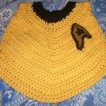 Free Crochet Pattern: Star Trek Baby Bib