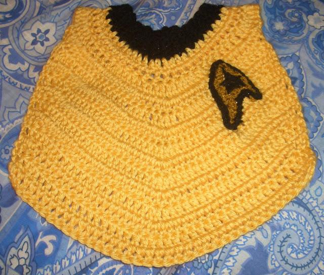 Free Crochet Pattern Star Trek Baby Bib Crochet Kingdom