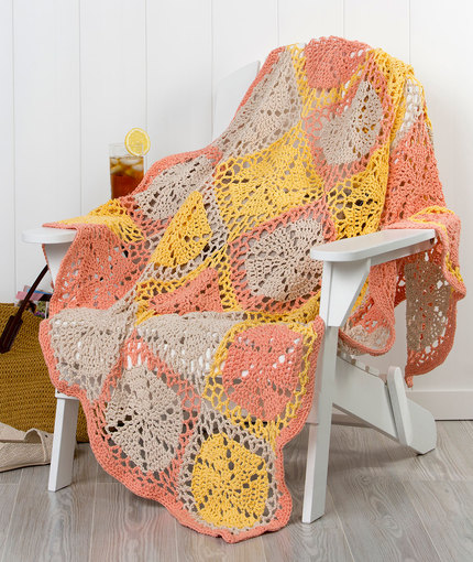 Twirling Garden Throw