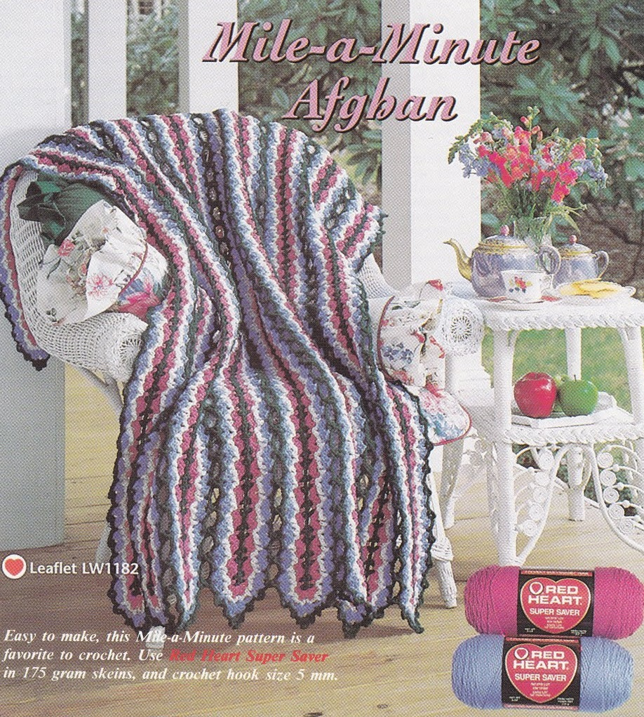 Red Heart Mile A Minute Afghan Pattern New Inspiration