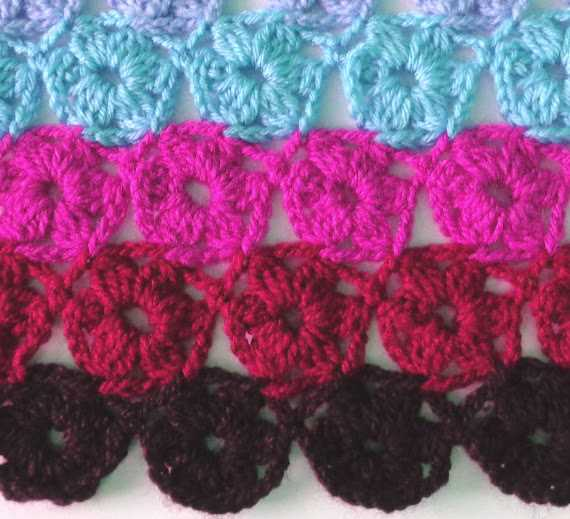 Circles Crochet Stitch Pattern Diagram ⋆ Crochet Kingdom