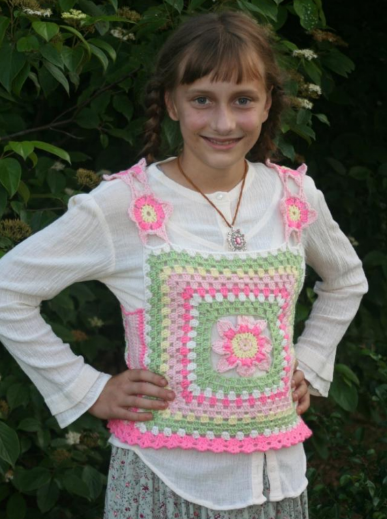 Early Girl Granny Vest Free Crochet Pattern