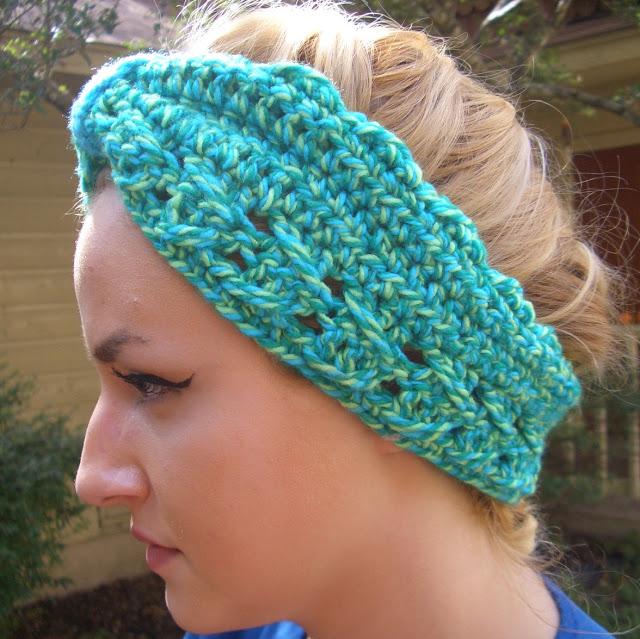 turquoise headband crochet pattern