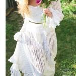 Retro Wedding Dress Crochet Pattern