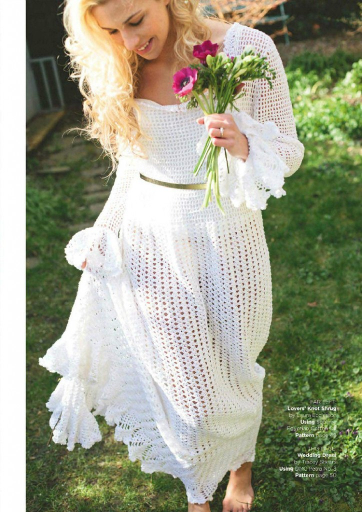 Retro Wedding Dress Crochet Pattern