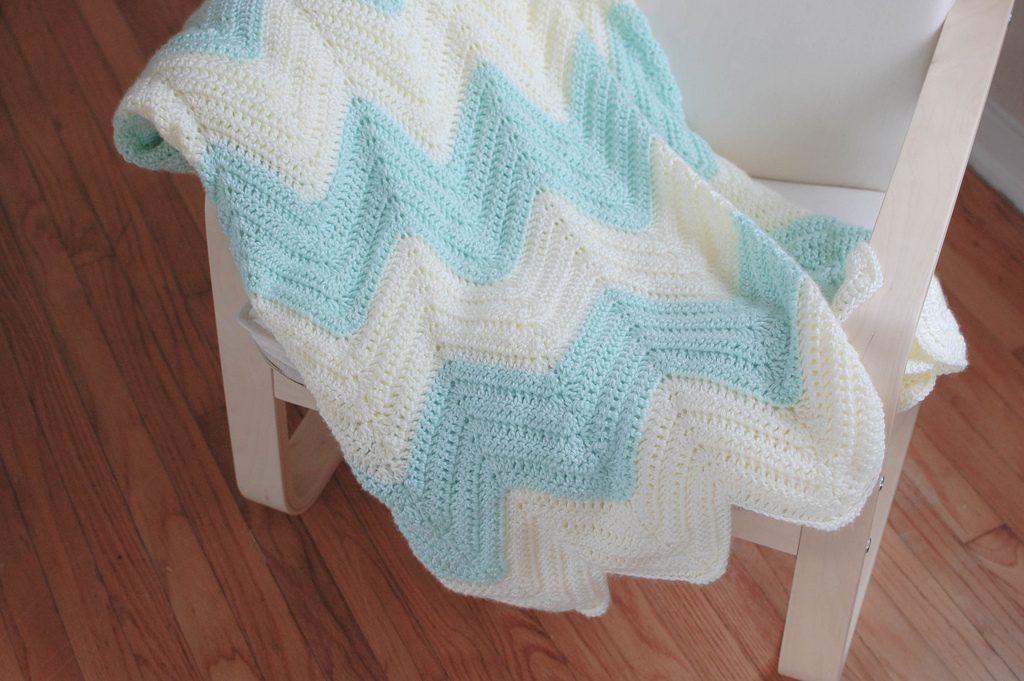 zig zag blanket free crochet