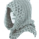 Crocodile stitch hood crochet pattern
