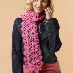 Cashmere Breeze Crochet Shells Scarf