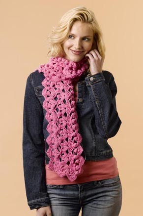 Cashmere Breeze Crochet Shells Scarf