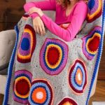 Circles into Squares Throw Free Crochet Pattern