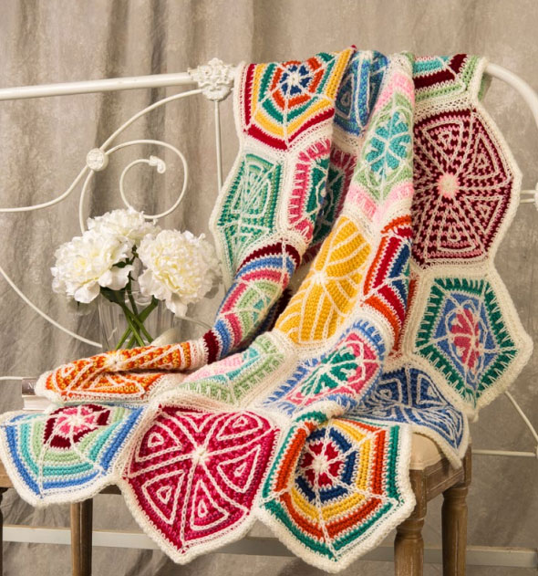 Mandala Sampler Throw Free Crochet Pattern