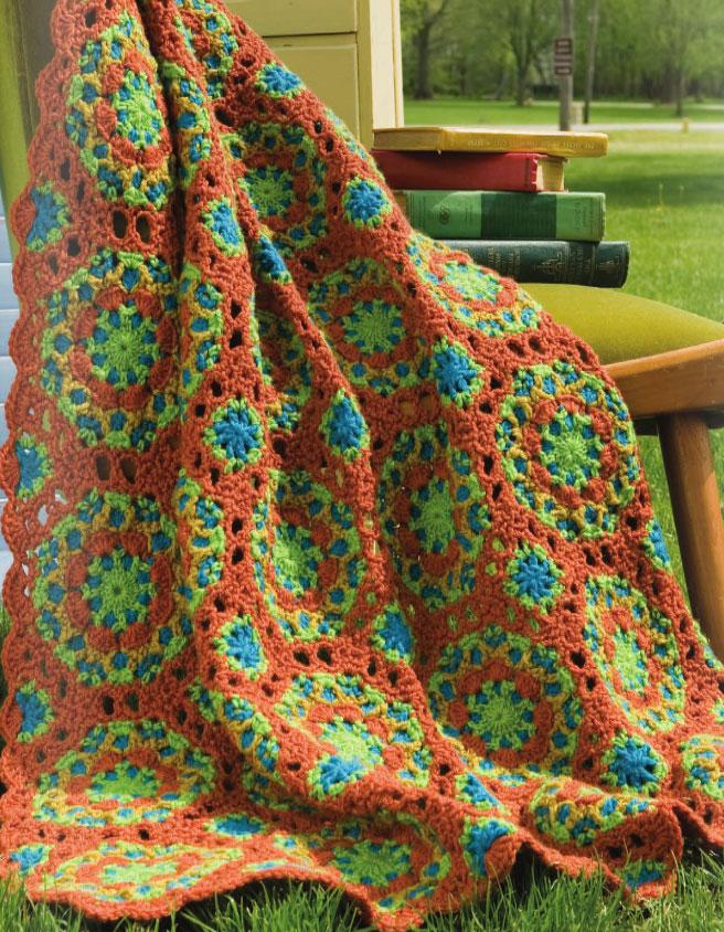 Peruvian Tile Afghan Crochet ⋆ Crochet Kingdom