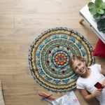 Pure Wool 8ply Mandala Rug