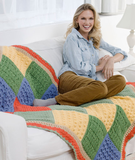 Sampler Throw Free Crochet Pattern