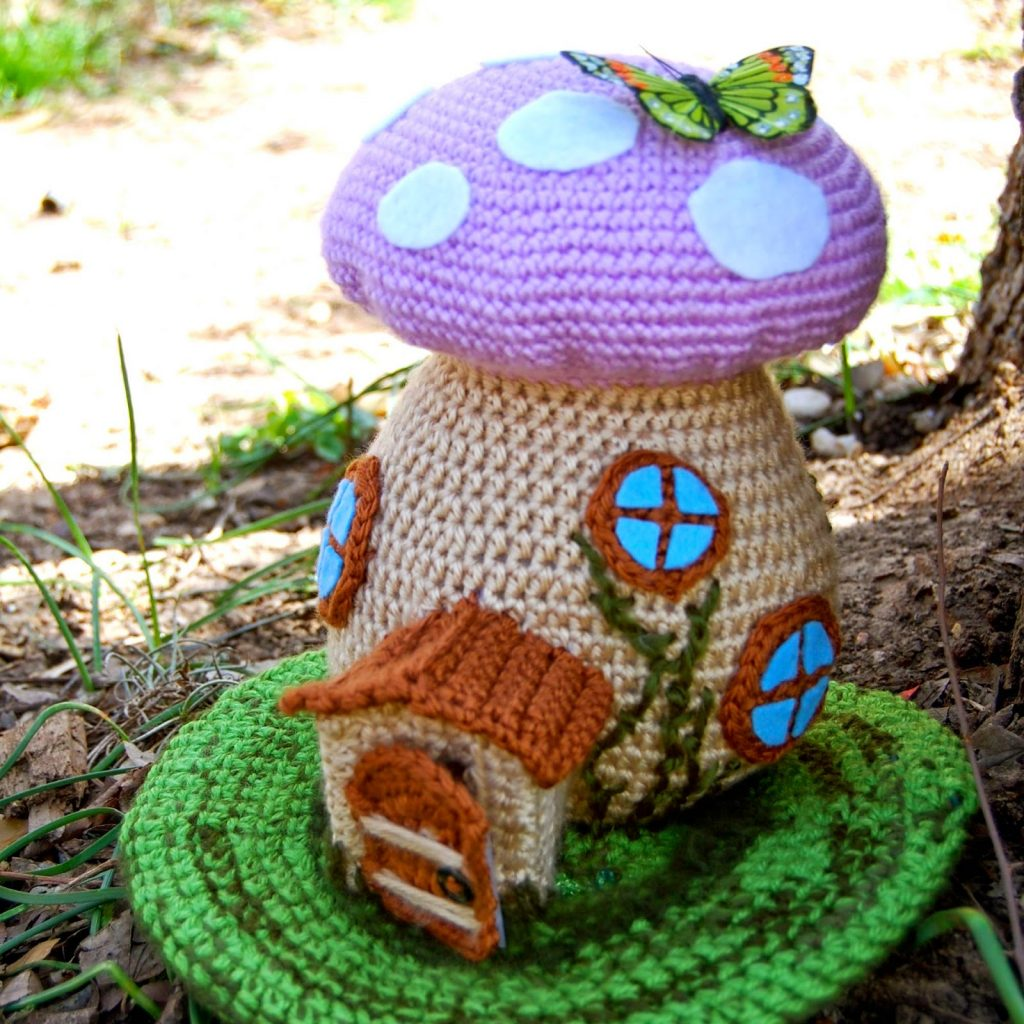 Spring Fairy House Free Crochet