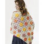 Summer Flowers Shawl Free Crochet Pattern
