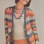 Vintage Crochet Pattern – 1970s Sweater and Scarf Set