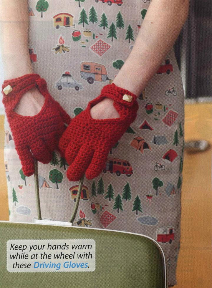 Crochet driving gloves