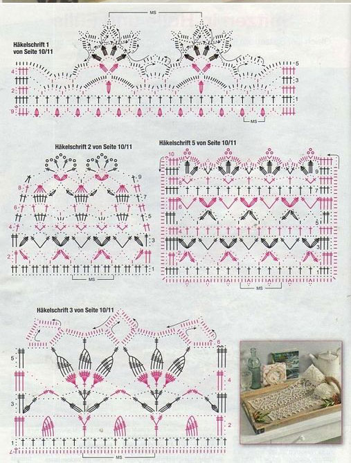 Antique Style Crochet Edge Diagram Only ⋆ Crochet Kingdom