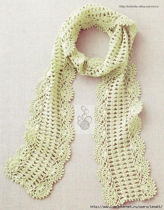 Crochet Scarf Pattern With Shell Border Crochet Kingdom