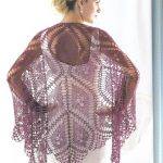 Fine diamond shawl crochet pattern