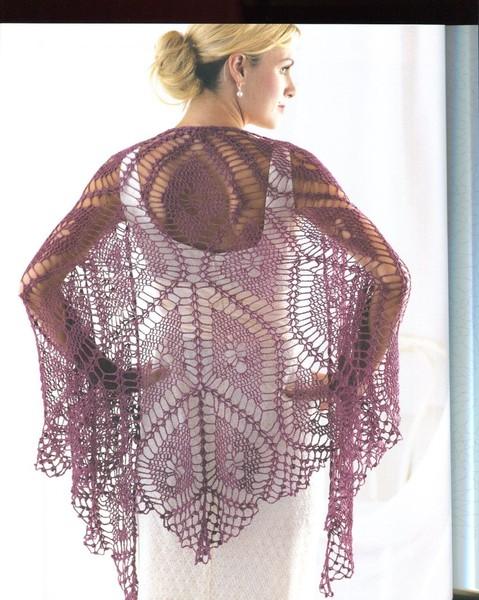 Fine diamond shawl crochet pattern