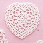 Lace Heart Crochet Pattern Diagram