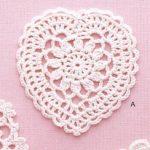 Lace Heart Crochet Pattern Diagram