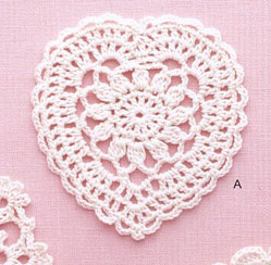 Lace Heart Crochet Pattern Diagram ⋆ Crochet Kingdom
