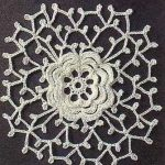 Flower Crochet Lacy Square