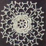 Flower Crochet Lacy Square