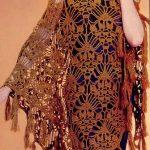 Large pineapple shawl