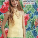 Pineapple tank halter crochet pattern