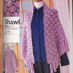 Pineapple Waves Crochet Shawl Pattern
