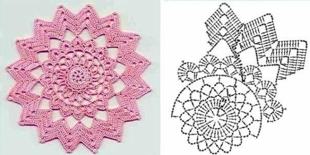 star shaped doily