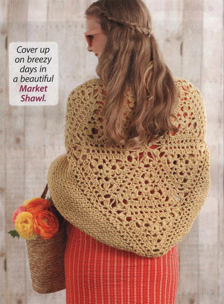 triangle market shawl