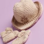 Cotton Wool Cowboy Hat and Booties Free Crochet Pattern
