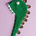 Gelato Dinosaur Baby Beanie Free Crochet Pattern