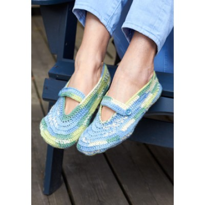Patons Summer Slippers free crochet pattern
